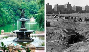 Central Park es un lugar encantador, pero en 1930, fue todo lo contrario.