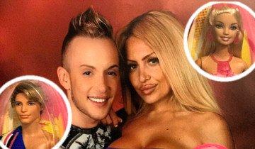Esta pareja gastó 300.000 dólares en cirugía plástica para parecerse a Barbie y Ken.