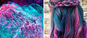 Pelo color galaxia: la nueva tendencia que parece sacada de otro mundo.