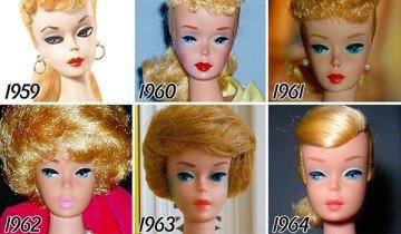 Así es cómo ha cambiado Barbie a lo largo de sus 56 años de vida.