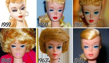 evolución Barbie