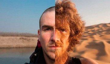 Así cambió su cuerpo después de recorrer 4.646 km a través de China.